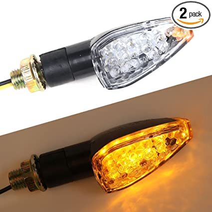 Motorbike Turn Signal Lights Amber LED Indicator