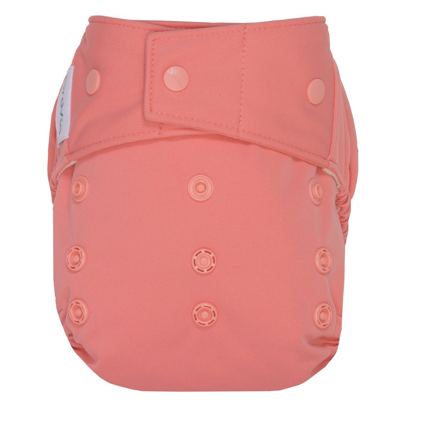 GroVia Hybrid Cloth Diaper Shell, Snap Shell (Rose)
