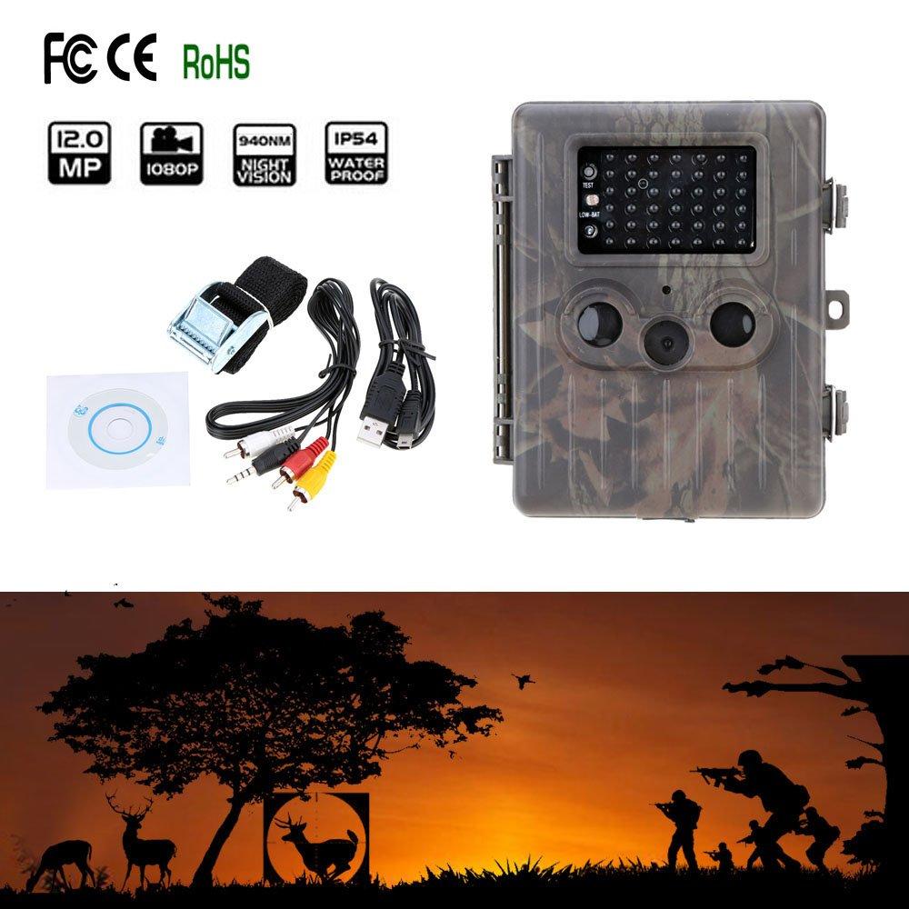 Lixada HT 002AA 野生動物 ハンティング カメラ HD デジタル 赤外線 スカウト トレイル カメラ IR LED ビデオ レコーダー12MP 防雨 B076BPDPPD