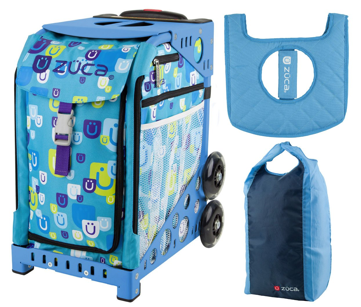 Zuca Sport Bag - Be Zappy with Gift Stuff Sack and Seat Cover (Blue Frame) by ZUCA