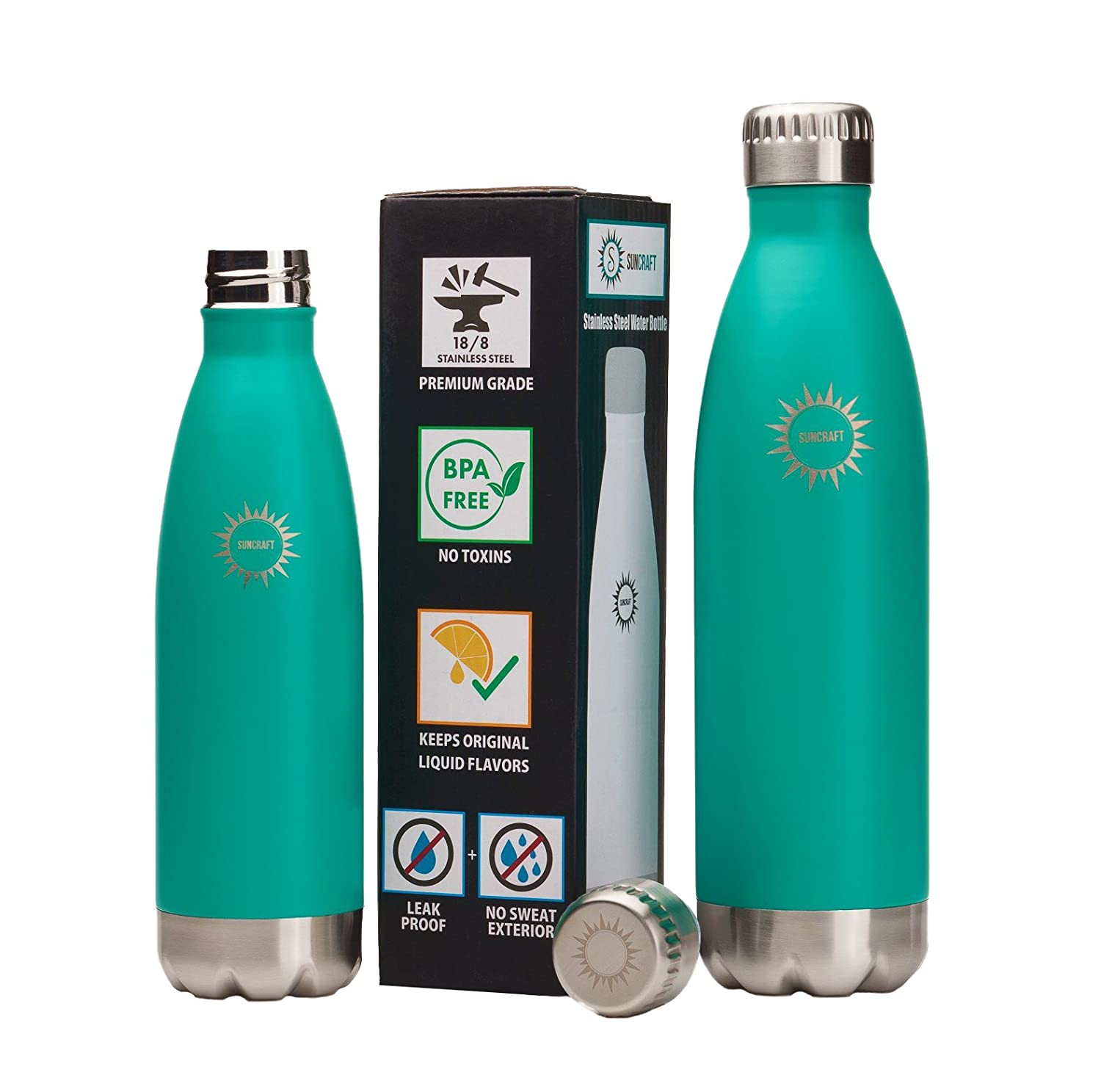 Amazon.com: Stainless Steel Vacuum Insulated Water Bottle, BPA Free ...