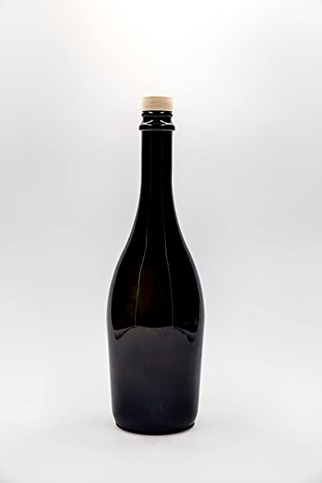nr 1 botella para Vino Espumoso Collio Frizzante 750 ml de vidrio verde tapón n°