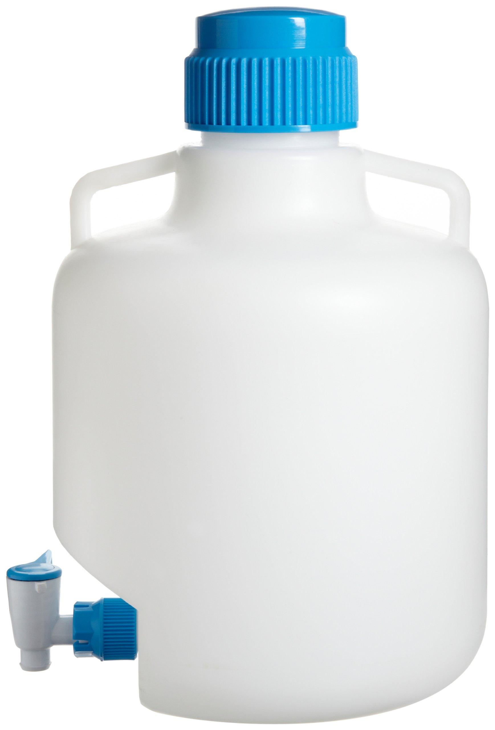 Bel-Art Autoclavable Polypropylene Carboy with Spigot; 10 Liters (2.6 Gallons) (F11846-0025)