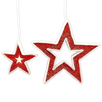 Due Esse s.r.l. Estrellas Rojas cm.21/40 Juego Pz.2 Perchero ...