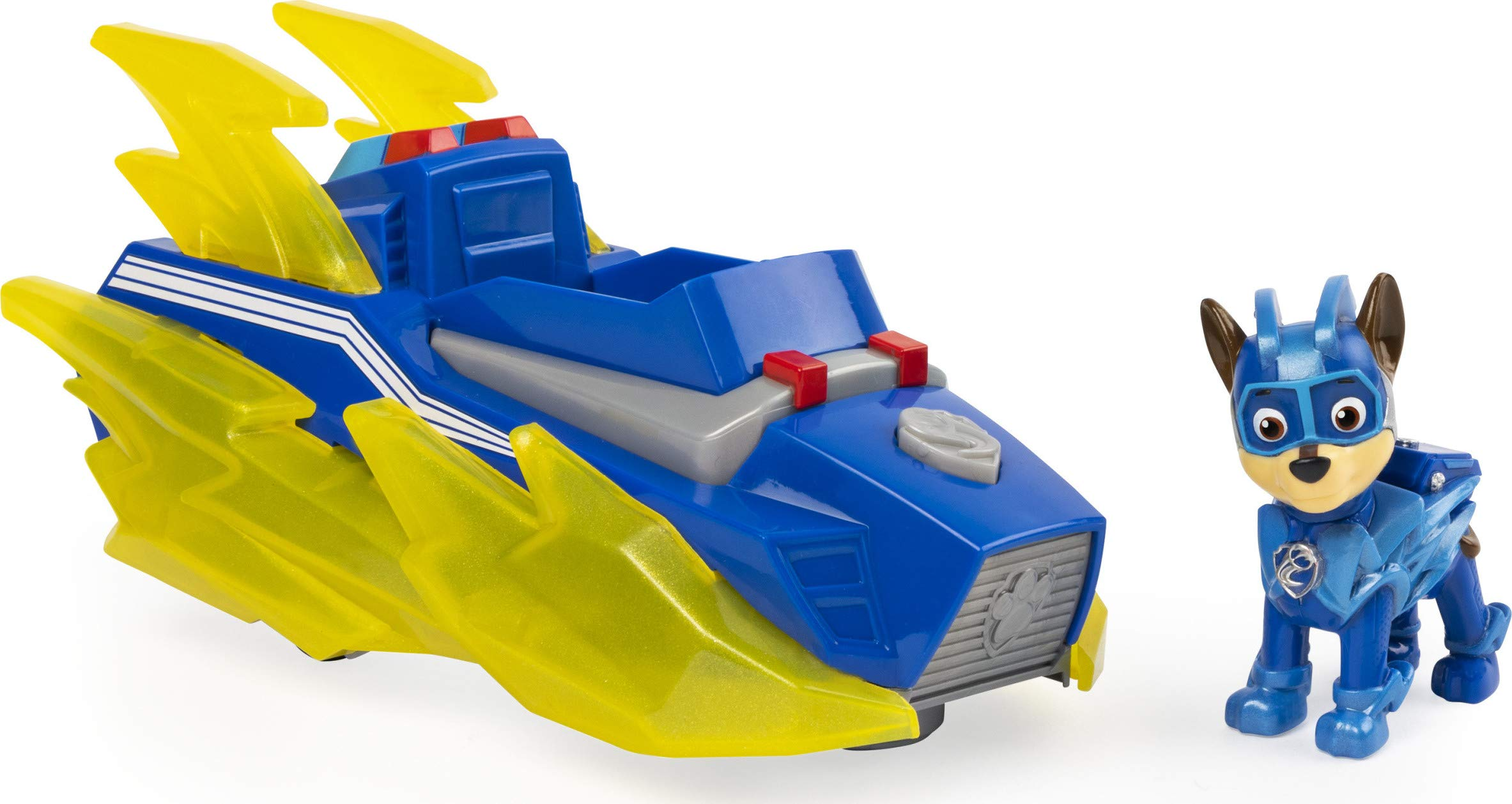 PAW Patrol Mighty Pups Charged Up Chase's Deluxe Vehicle with Lights and Sounds