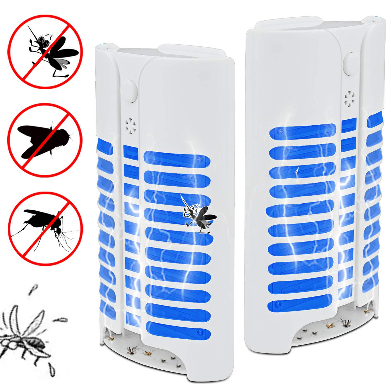 Duledio Electric Indoor Bug Zapper,Mosquito Killer, Insect and Fly Zapper Catcher Killer Trap with UV Bug Light with Large Coverage 100% Safety for Home, Office and Patio Indoor use