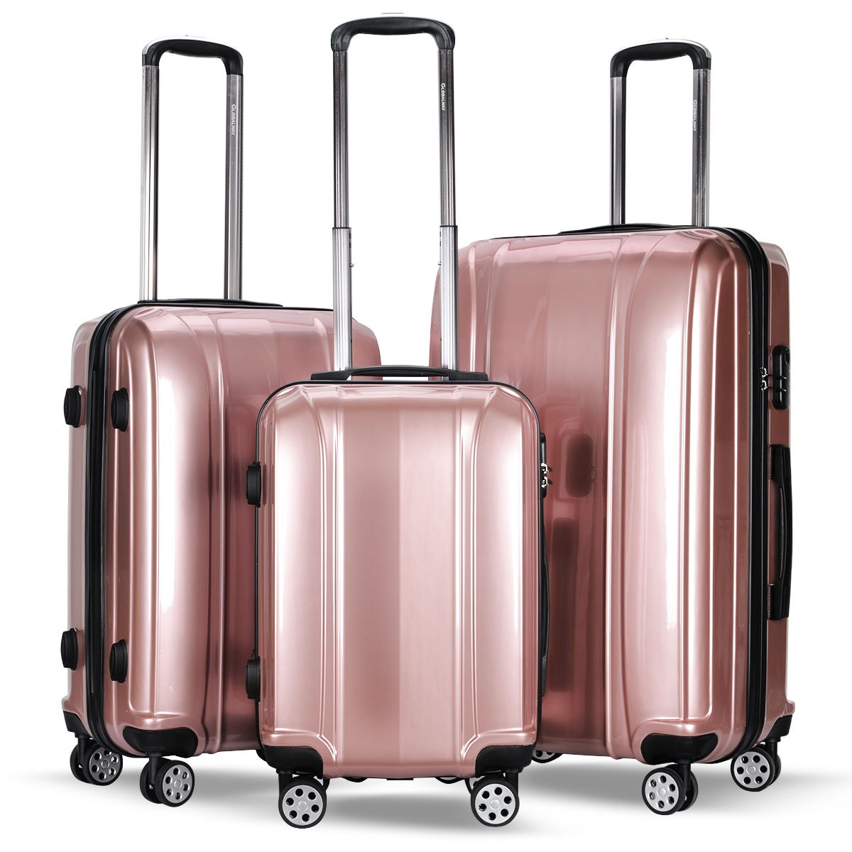 Amazon.com | Lightweight 3 Piece Luggage Sets, Durable Hardshell Spinner Suitcase with TSA Approved Locks | Luggage Sets
