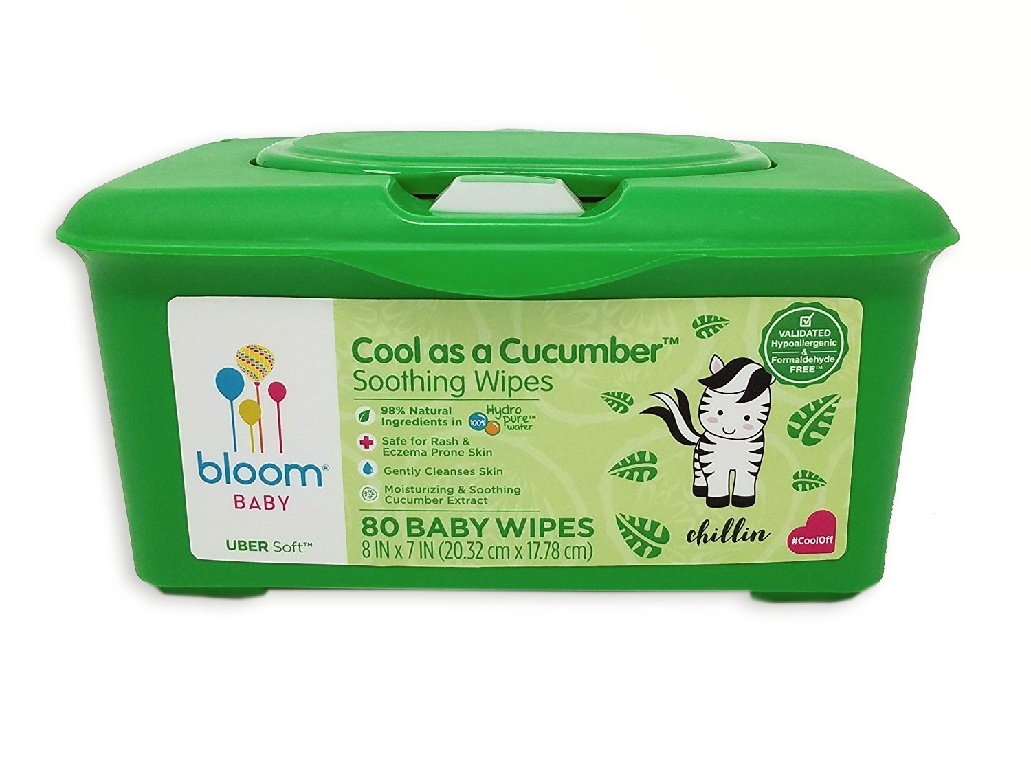 bloom BABY Cool As A Cucumber Baby Wipes Tub (80-count)