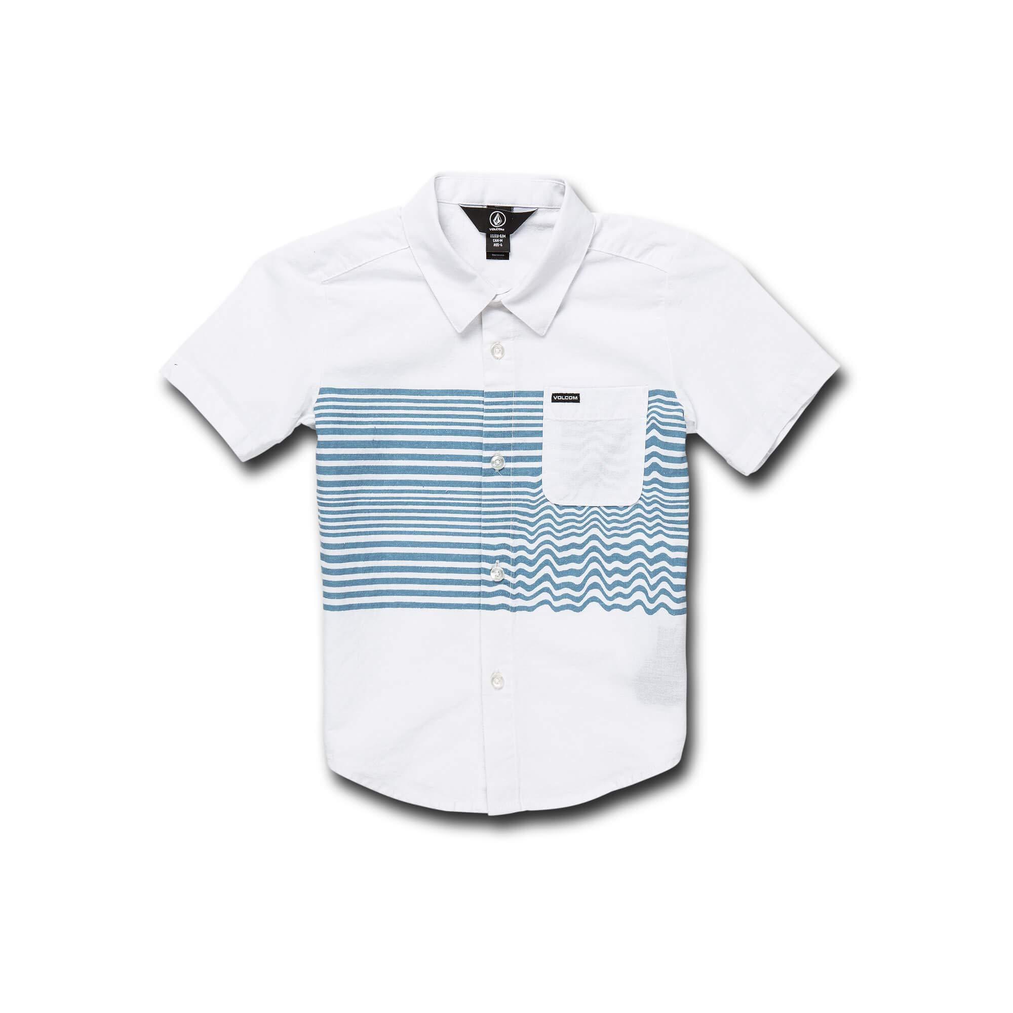 Volcom Little Boy's Mag Vibes Modern Fit Button Up Shirt, White 5