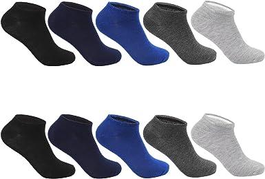 L&K Pack de 10 Calcetines Cortos Sneaker de deporte para Mujer Hombre Unisex 2101: Amazon.es: Ropa y accesorios