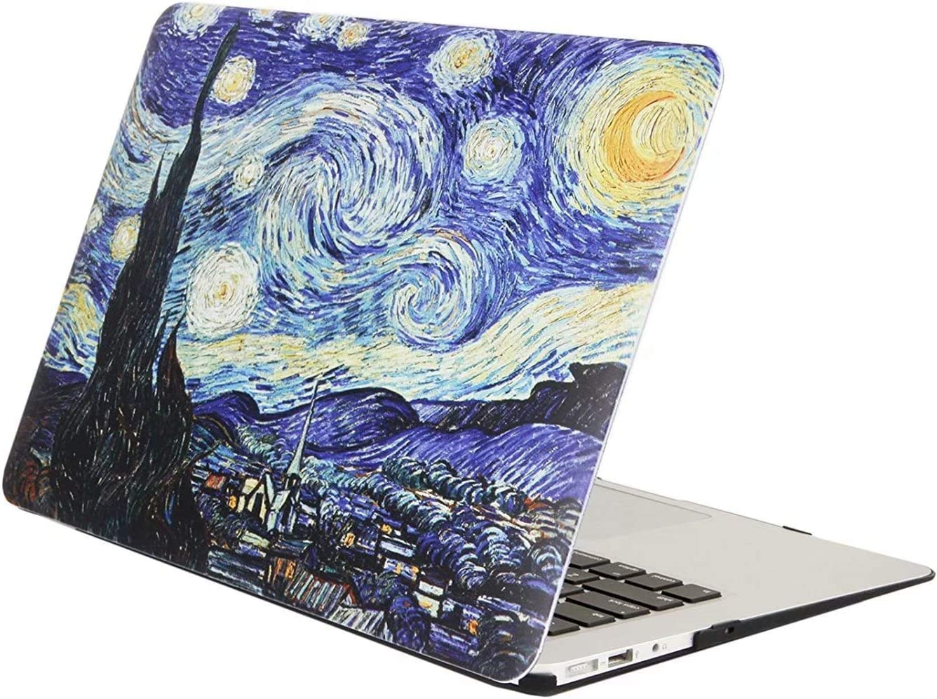 MonsDirect MacBook Air 13 Inch Case with Touch ID A2179, A1932, 2018,19,20 Released Rubberized Hard Plastic Case Cover Protective Snap on Shell for Retina MacBook Air 13 with Touch ID, Starry Night