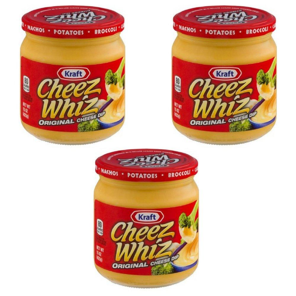 Kraft Cheez Whiz Original Cheese Dip, 15 oz (pack of 3)