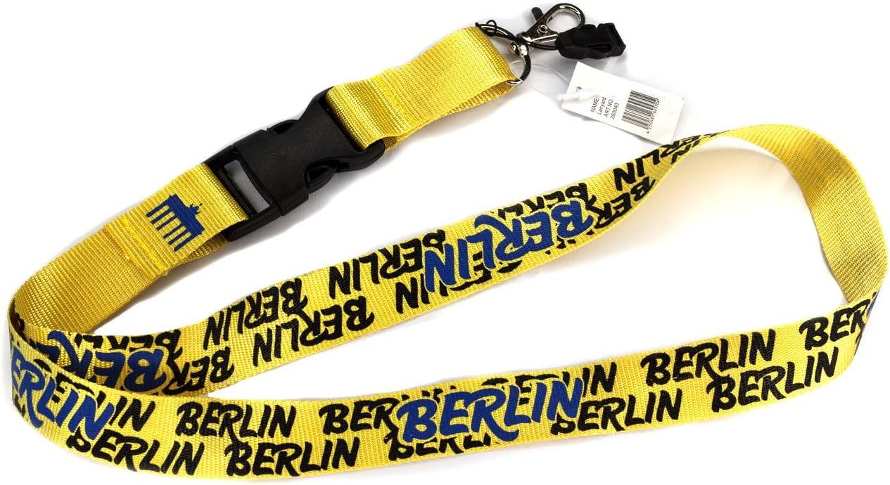 Berlin Herz Schl/üsselband Lanyard mit Steckschnalle und Schnellverschluss Lang 58 cm Berlin Souvenir