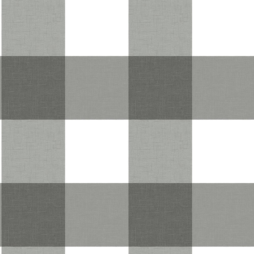 Yard Nu2691 Farmhouse Plaid Grey White 5 Inch Buffalo Check Peel And Stick Wallpaper Door Hangers Home Decor Home Living