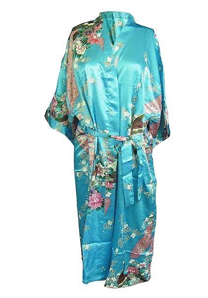 Kimono de Seda Japonesa de la túnica Vestido de Las Mujeres Pijamas diseño de
