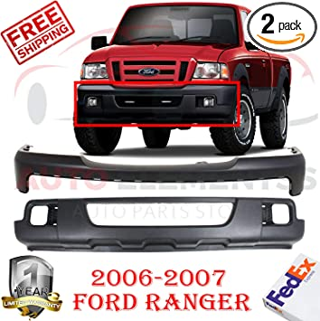 Exterior Accessories Bumper Cover Kit Compatible with FORD RANGER ...