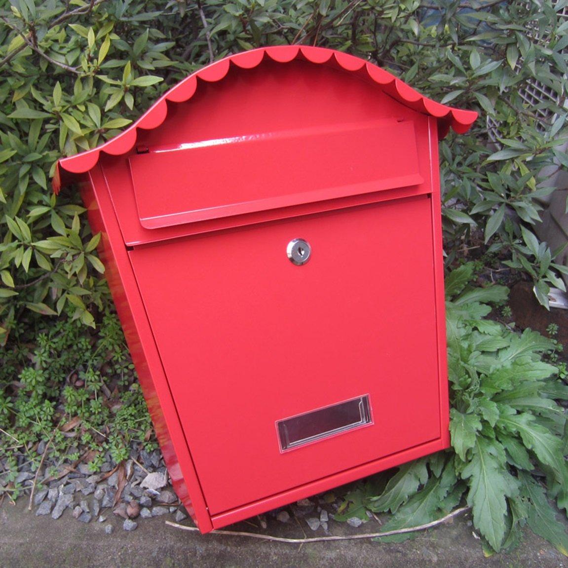 TLMY ヴィラのメールボックス屋外のメールボックスヨーロッパの壁ロック製の新聞の箱の単純な壁の吊り下げと鉄の創造的な屋外防水 メールボックス   B07JBM8M6R