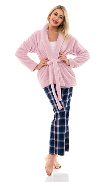 TowelSelections Womens Bed Jacket Fleece Cardigan Cuddly Robe