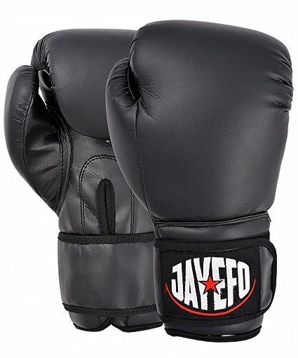 Jayefo Beginners Leather Boxing MMA Muay Thai Gloves Kick Boxing Gloves  Sparring Gloves MMA Gloves Bag c664250035f48