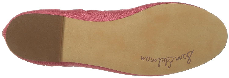 Sam Edelman Women's Felicia Ballet Flat B01LZZ7J8N 9 B(M) US Hot Coral Silk Dupioni