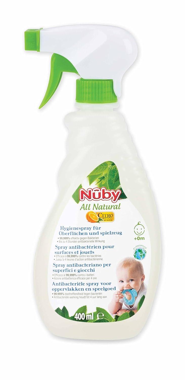 Spray Antibactérien Surfaces et Jouets 40ml Nuby: Amazon.es: Bebé