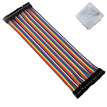 40pcs Dupont Cables FEMALE TO MALE Jumper Breadboard Wire Ribbon For Arduino New