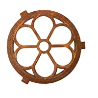 Nostalgia marco hierro redondo de 60 cm rejilla