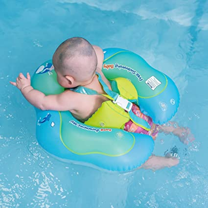 Amazon.com: Free Swimming Baby Inflatable Baby Swimming Float Ring ...