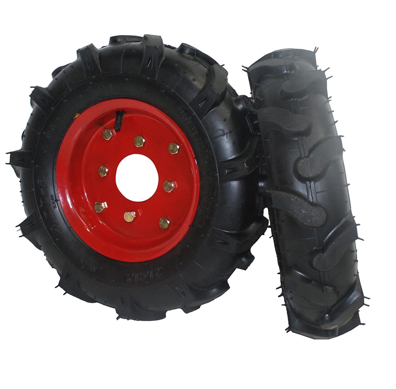 Bricoferr PTMT034 Juego de ruedas agrícolas neumáticas (400 x 8 ...