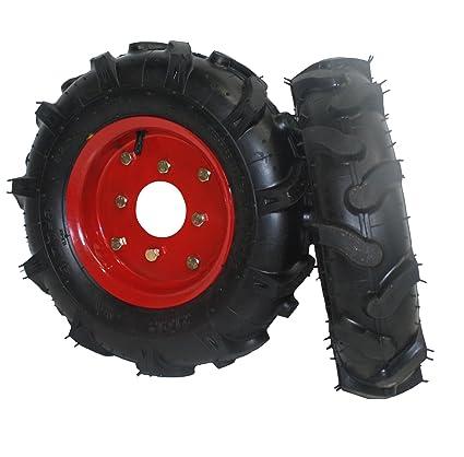 "Bricoferr PTMT034 Juego de ruedas agrícolas neumáticas (400 x 8"", aperos de motoazada"