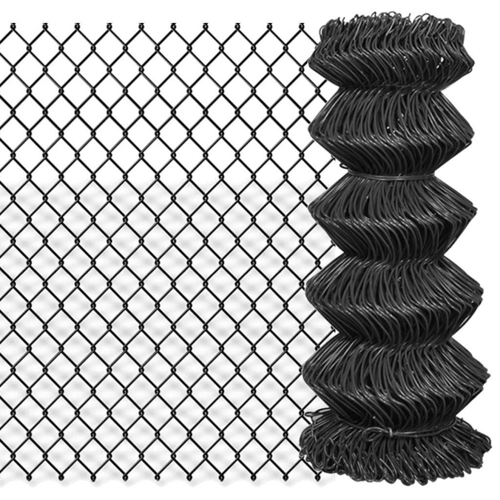 Tidyard Gartenzaun Maschendrahtzaun Maschendraht Gitterzaun Schwei/ßgitter PVC-Beschichteter Stahl Zaunelement Maschenweite 60 x 60 mm Grau 25 x 1 m