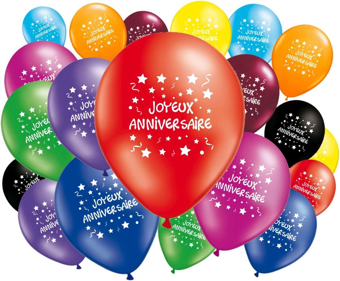 Fabsud Lot De 20 Ballons Joyeux Anniversaire Amazon Fr Cuisine Maison