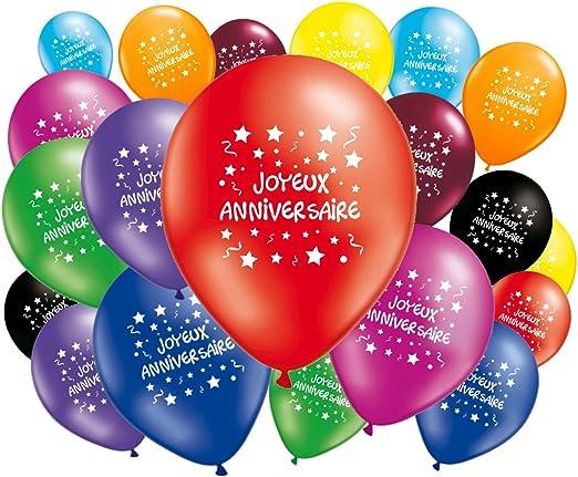 Lot de 20 Ballons Joyeux anniversaire: Amazon.fr: Cuisine & Maison