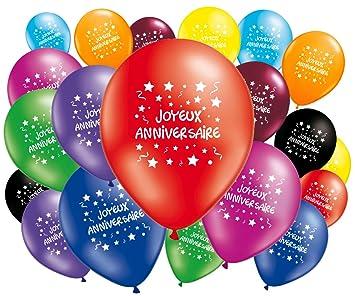 Lot De 20 Ballons Joyeux Anniversaire