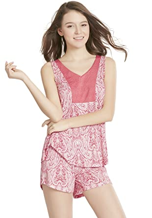 Amazon.com  Ink+Ivy Shorts and Tank Top Pajama Set for Women cf90c0712