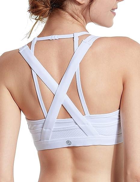 CRZ YOGA - Sujetador Deportivo X Espalda Almohadillas Extraíbles para Mujer