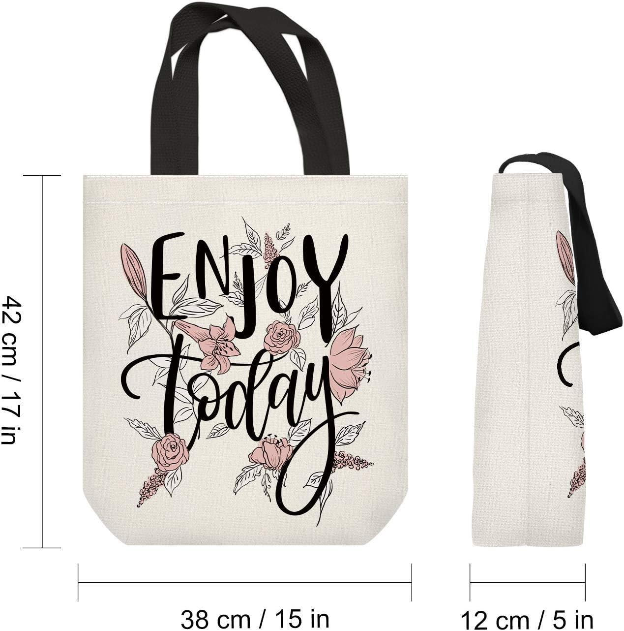 NymphFable Bolsa Compra Reutilizables Ecol/ógicas Flores Letras Bolsas para Comestibles Plegables Grande