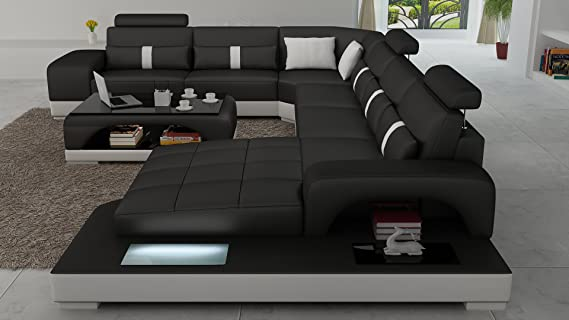 Outstanding Amazon Com Connie Sectional Sofa Set In Black White With Cjindustries Chair Design For Home Cjindustriesco