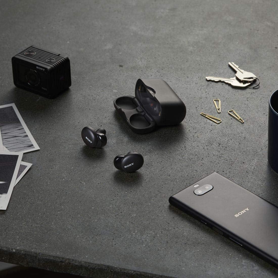 ソニー 完全ワイヤレスイヤホン WF-H800 : ハイレゾ級/Amazon Alexa搭載 / 最大8時間連続再生 / 小型・軽量 高い接続安定性 専用アプリ対応 マイク搭載 2020年モデル ブラック WF-H800 B