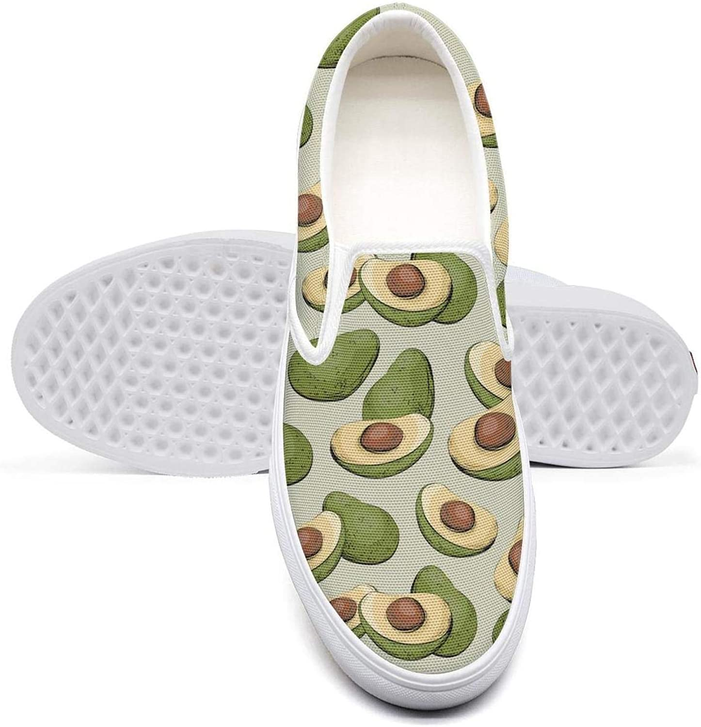 RivasPsm Womens Slip-on Loafer Mature Avocado Squishy Casual Sneaker Flat Walking Shoes Comfort