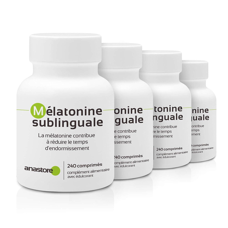 MELATONINA SUBLINGUAL | Pureza garantizada superior al 99% | 1.8 mg / 120 dosis | Estevia (Aroma de cereza) | Regulador del reloj biológico | ...