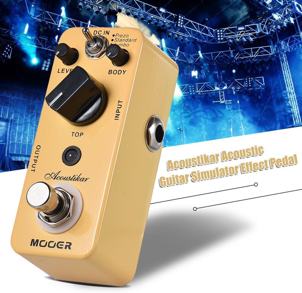 Muslady MOOER Acoustikar Simulador de Guitarra Acústica Pedal de ...