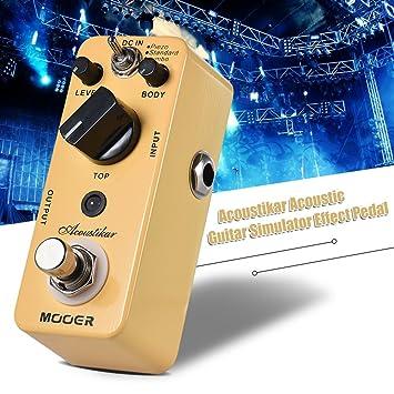 Muslady MOOER Acoustikar Simulador de Guitarra Acústica Pedal de Efecto True Bypass con 3 Modos (Piezo/Standard / Jumbo): Amazon.es: Instrumentos musicales