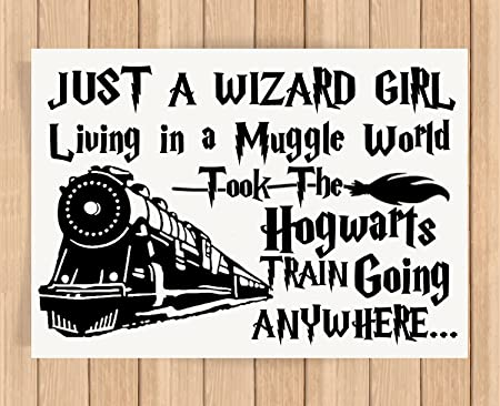 Presents Gifts For Young Girls Boys Teens Harry Potter Lovers Fans Birthday Christmas Xmas Wizard Girl Living In A Muggle World Prints Posters Wall Art Welcome Home Decoration Living Room Bed Room