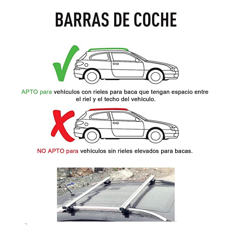 HOMCOM Barras de Coche Universal con Llave Tipo Baca ...