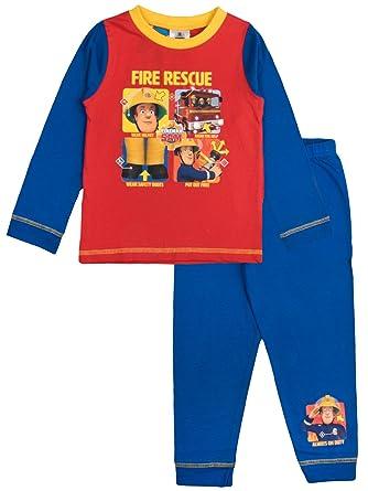 Fireman Sam - Pijama Dos Piezas - Manga Larga - para niño Rojo Wear Your Helmet 24 Meses: Amazon.es: Ropa y accesorios