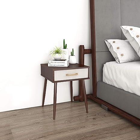 Amazon.com: Lifewit - Mesita de noche con cajón de tela ...