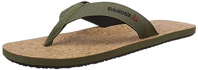 Reebok Men's Eco Flip Cork Flip-Flops and House Slippers Flip-Flops & House Slippers at amazon