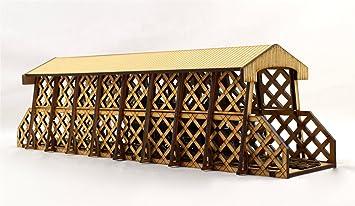 War World Scenics - Puente en celosía techado de vía única ...
