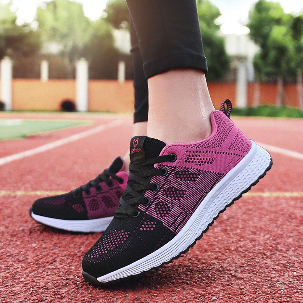 par HUYURI Chaussures de Sport Tout-Aller Baskets Souples et Respirantes Chaussures de Plein air pour Femmes en Maille